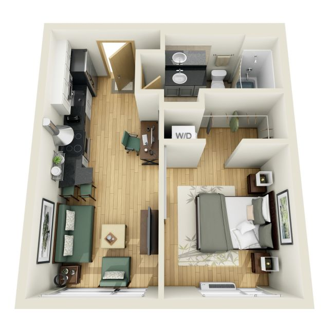 1 Bedroom 1 Bathroom Apartment for rent at Coze Flats in Minneapolis, MN