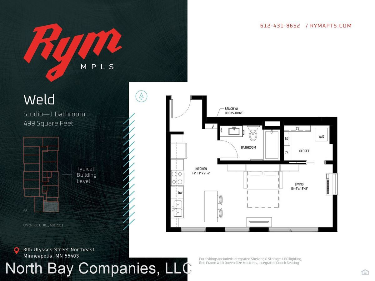 Studio 1 Bathroom Apartment for rent at 309 Ulysses St in Minneapolis, MN