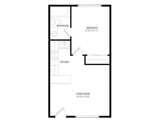 1 Bedroom 1 Bathroom Apartment for rent at Colonial Square Apartment Homes in Bellevue, WA