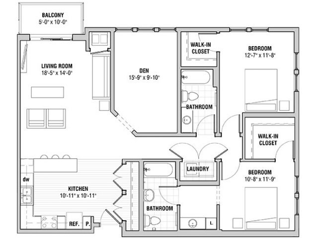 2 Bedrooms 2 Bathrooms Apartment for rent at The Covington Apartment Homes in Bloomington, MN