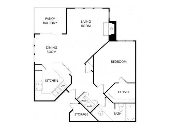 1 Bedroom 1 Bathroom Apartment for rent at Hawthorne Apartment Homes in Phoenix, AZ