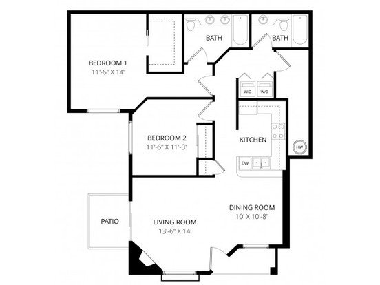 2 Bedrooms 2 Bathrooms Apartment for rent at Aspen Creek Apartment Homes in Kirkland, WA