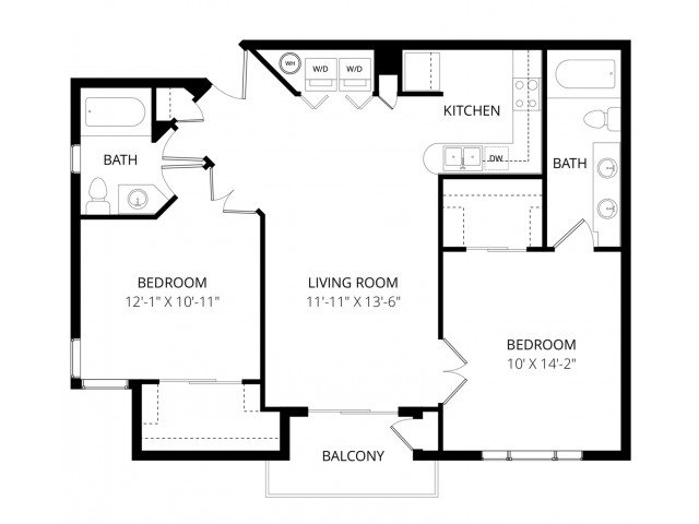 2 Bedrooms 2 Bathrooms Apartment for rent at Visions Apartment Homes in Peoria, AZ