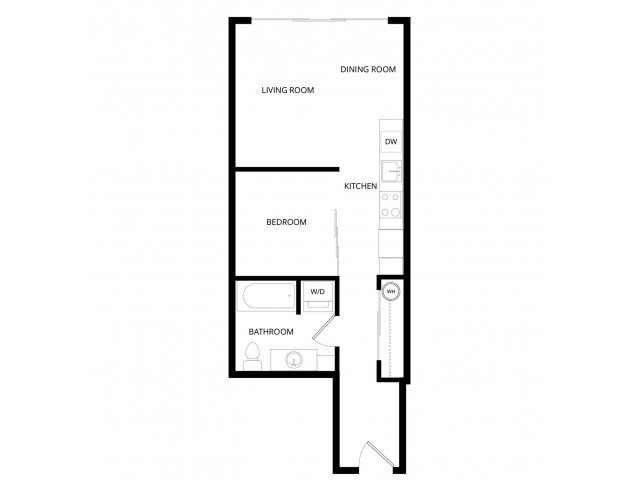 1 Bedroom 1 Bathroom Apartment for rent at Vive Apartments in Seattle, WA