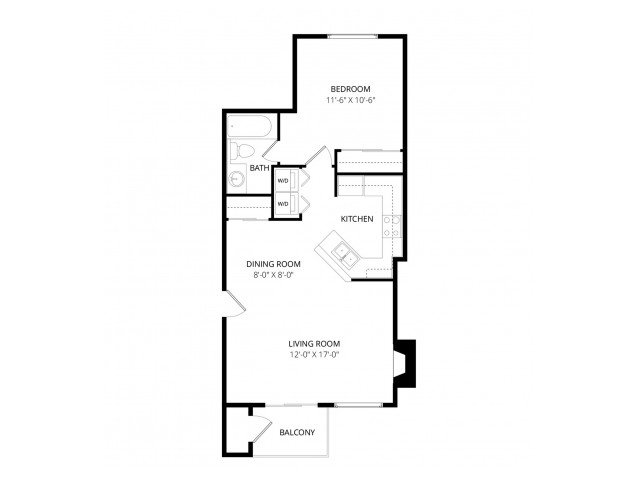 1 Bedroom 1 Bathroom Apartment for rent at Waterbury Park in Federal Way, WA