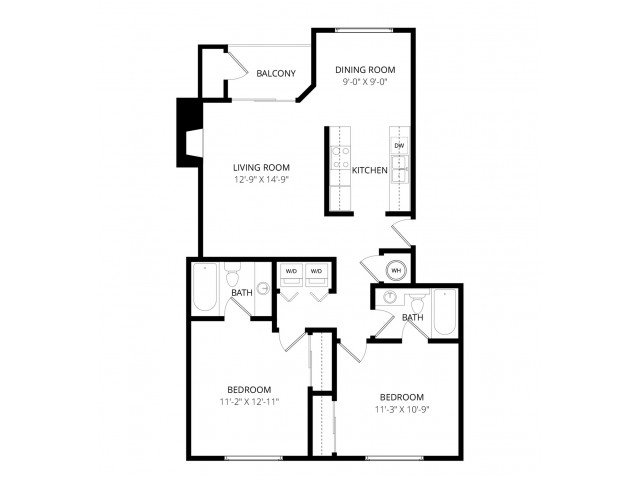 2 Bedrooms 2 Bathrooms Apartment for rent at Waterbury Park in Federal Way, WA