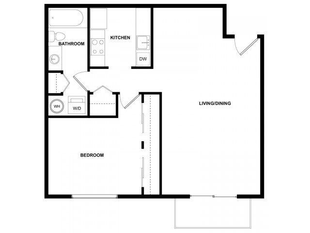 1 Bedroom 1 Bathroom Apartment for rent at Leilani 2 in Seattle, WA