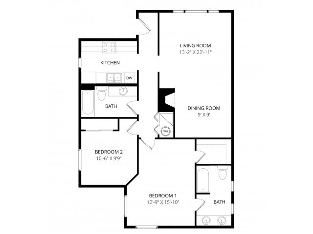 2 Bedrooms 2 Bathrooms Apartment for rent at Foster Greens Apartment Homes in Tukwila, WA