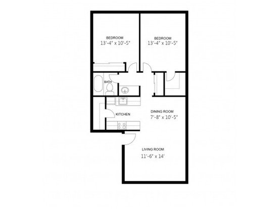 2 Bedrooms 1 Bathroom Apartment for rent at The Enclave Apartment Homes in Tucson, AZ