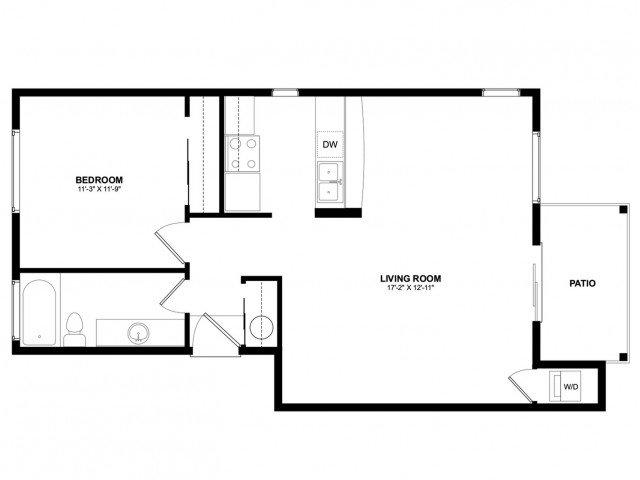 1 Bedroom 1 Bathroom Apartment for rent at Asbury Park in Kirkland, WA