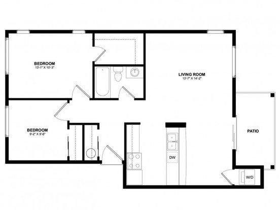 2 Bedrooms 1 Bathroom Apartment for rent at Asbury Park in Kirkland, WA