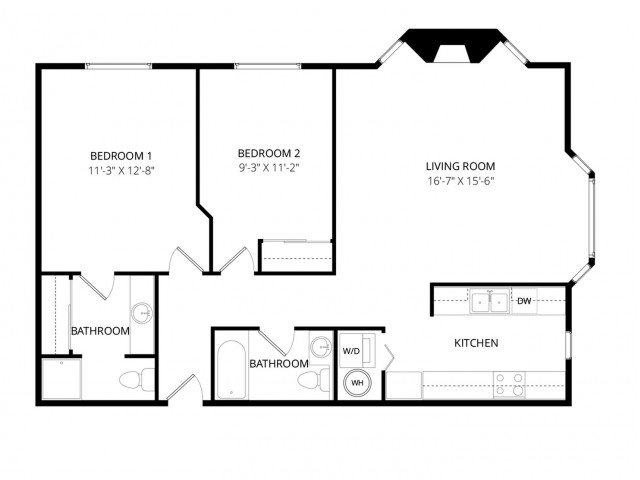 2 Bedrooms 2 Bathrooms Apartment for rent at Bayview Apartment Homes in Federal Way, WA