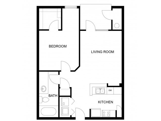 1 Bedroom 1 Bathroom Apartment for rent at Mozaic At Steele Park in Phoenix, AZ