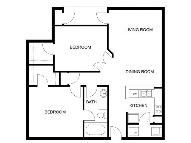 2 Bedrooms 1 Bathroom Apartment for rent at Mozaic At Steele Park in Phoenix, AZ