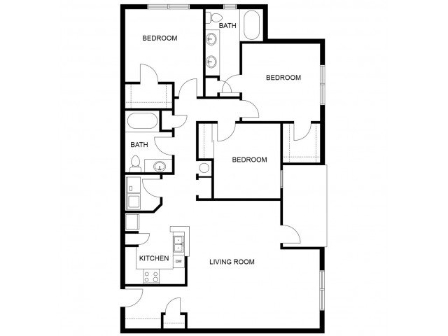 3 Bedrooms 2 Bathrooms Apartment for rent at Mozaic At Steele Park in Phoenix, AZ