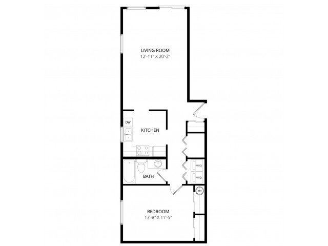 1 Bedroom 1 Bathroom Apartment for rent at Foster Greens Apartment Homes in Tukwila, WA