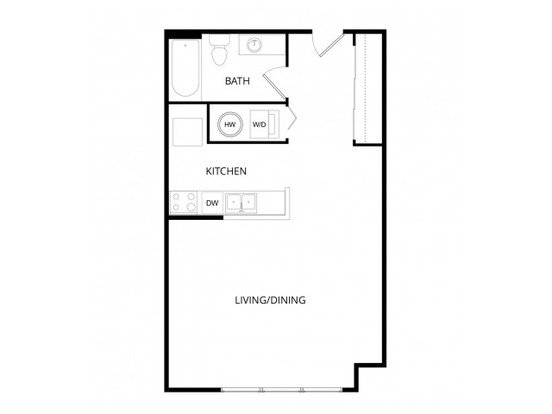 Studio 1 Bathroom Apartment for rent at Viewpoint Apartment Homes in Seatac, WA