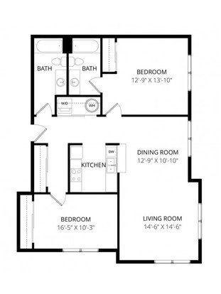 2 Bedrooms 2 Bathrooms Apartment for rent at Viewpoint Apartment Homes in Seatac, WA