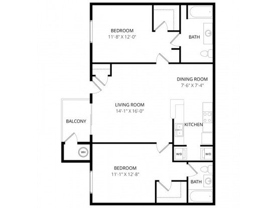 2 Bedrooms 2 Bathrooms Apartment for rent at The Retreat At Speedway in Tucson, AZ