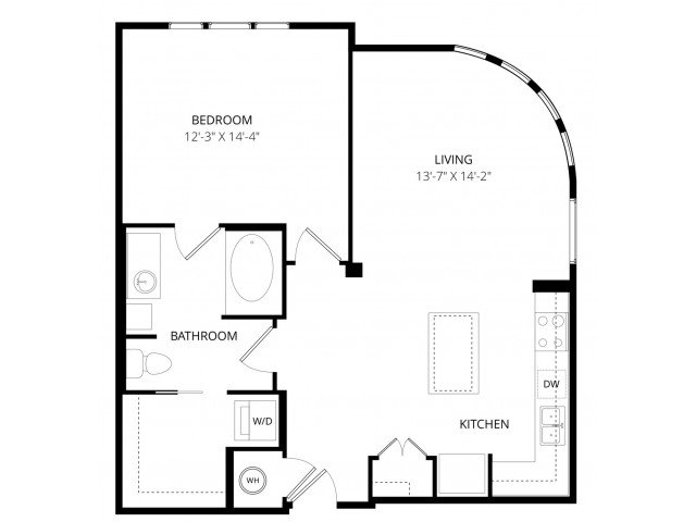 1 Bedroom 1 Bathroom Apartment for rent at Enclave At Brookside in Tulsa, OK