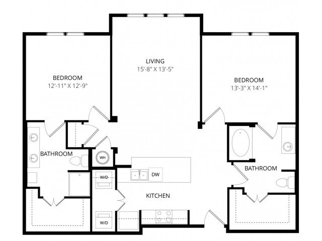 2 Bedrooms 2 Bathrooms Apartment for rent at Enclave At Brookside in Tulsa, OK