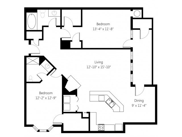 2 Bedrooms 2 Bathrooms Apartment for rent at Lincoln Villas On Memorial in Tulsa, OK