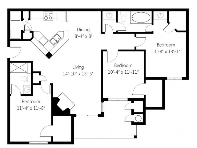 3 Bedrooms 2 Bathrooms Apartment for rent at Lincoln Villas On Memorial in Tulsa, OK