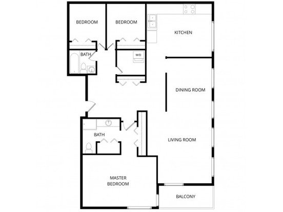3 Bedrooms 2 Bathrooms Apartment for rent at Watercrest Apartments in Lake Forest Park, WA