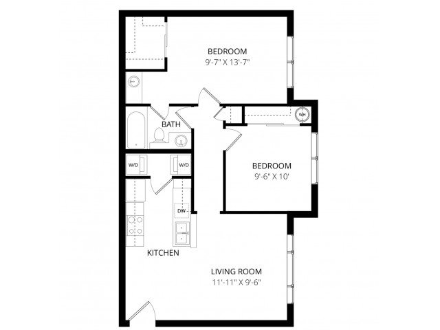 2 Bedrooms 1 Bathroom Apartment for rent at Visions Apartment Homes in Peoria, AZ