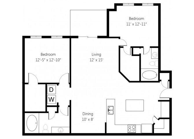 2 Bedrooms 2 Bathrooms Apartment for rent at Memorial Creek in Tulsa, OK