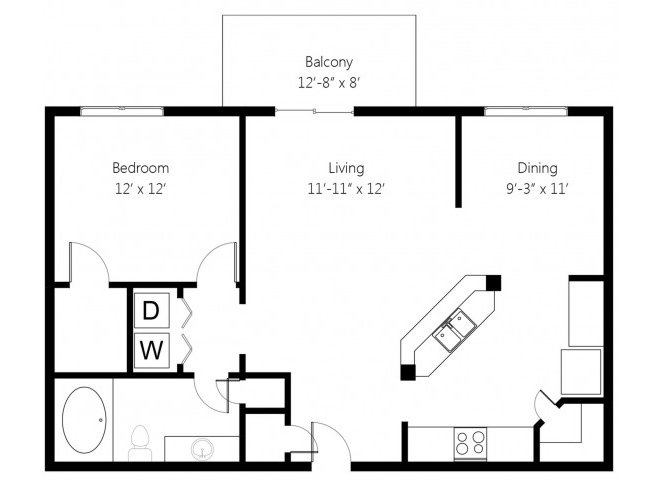 1 Bedroom 1 Bathroom Apartment for rent at Memorial Creek in Tulsa, OK
