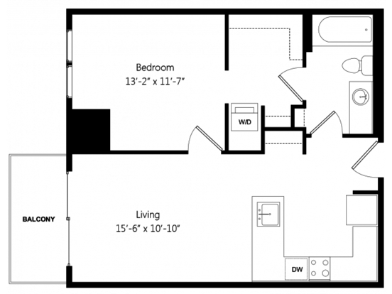 1 Bedroom 1 Bathroom Apartment for rent at 7 West in Minneapolis, MN