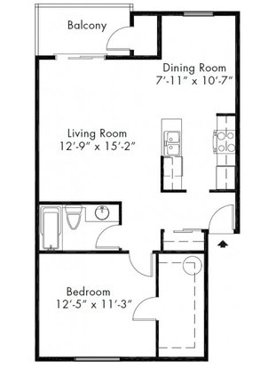 1 Bedroom 1 Bathroom Apartment for rent at Adagio in Bellevue, WA