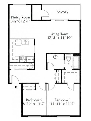 2 Bedrooms 1 Bathroom Apartment for rent at Adagio in Bellevue, WA
