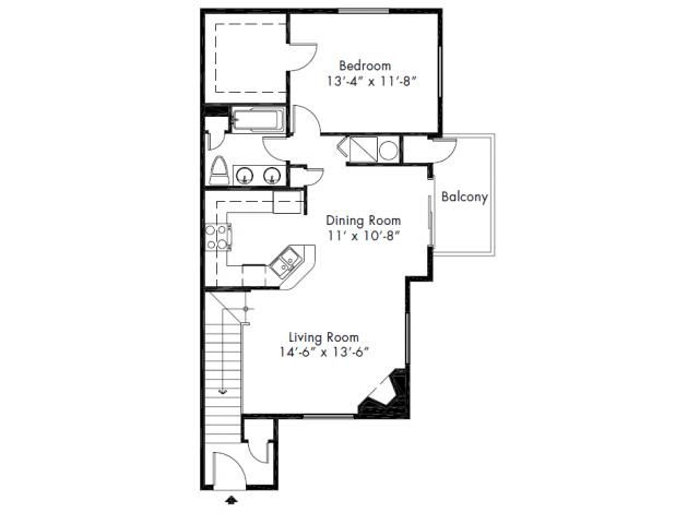 1 Bedroom 1 Bathroom Apartment for rent at Aspen Creek Apartment Homes in Kirkland, WA