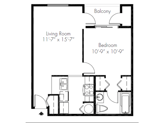 1 Bedroom 1 Bathroom Apartment for rent at Bayview Apartment Homes in Federal Way, WA