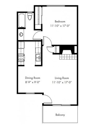 1 Bedroom 1 Bathroom Apartment for rent at The Cove in Federal Way, WA