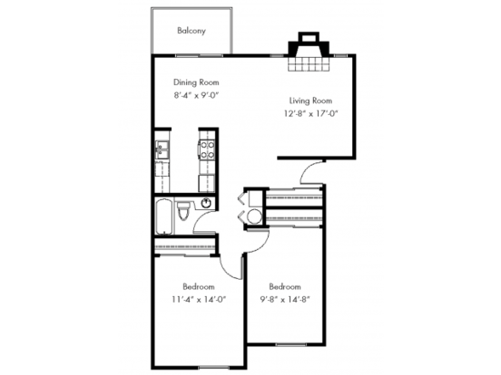 2 Bedrooms 1 Bathroom Apartment for rent at The Cove in Federal Way, WA