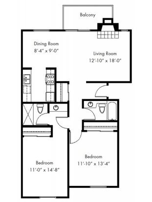 2 Bedrooms 2 Bathrooms Apartment for rent at The Cove in Federal Way, WA
