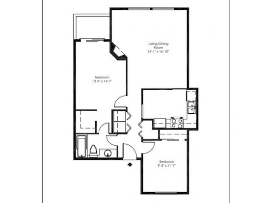 2 Bedrooms 1 Bathroom Apartment for rent at Foster Greens Apartment Homes in Tukwila, WA