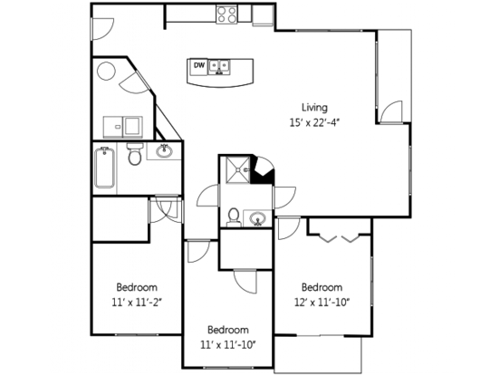 3 Bedrooms 2 Bathrooms Apartment for rent at Heritage Hill Apartment Homes in Renton, WA