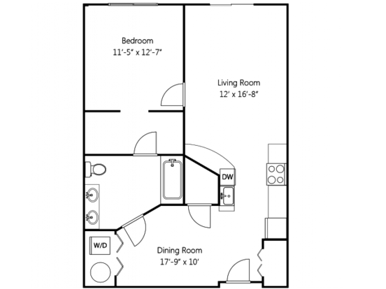 1 Bedroom 1 Bathroom Apartment for rent at Heritage Hill Apartment Homes in Renton, WA