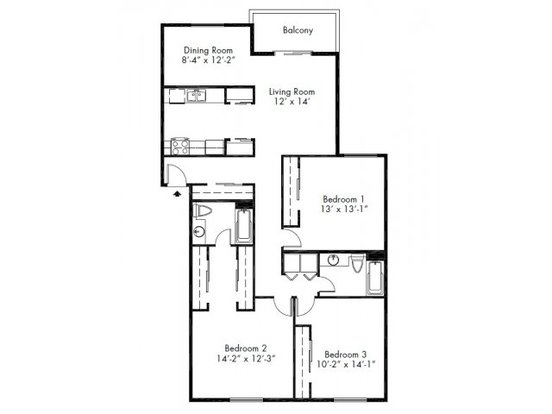 3 Bedrooms 2 Bathrooms Apartment for rent at Lake Park Apartment Homes in Everett, WA