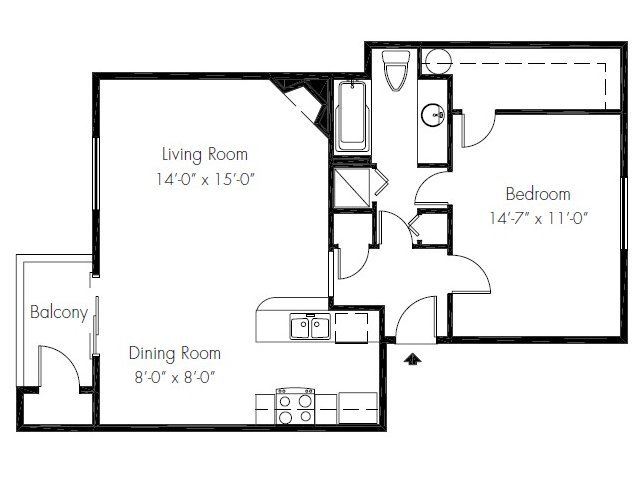1 Bedroom 1 Bathroom Apartment for rent at The Ridge & Shores Apartments in Federal Way, WA