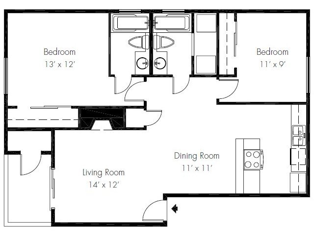2 Bedrooms 2 Bathrooms Apartment for rent at The Ridge & Shores Apartments in Federal Way, WA