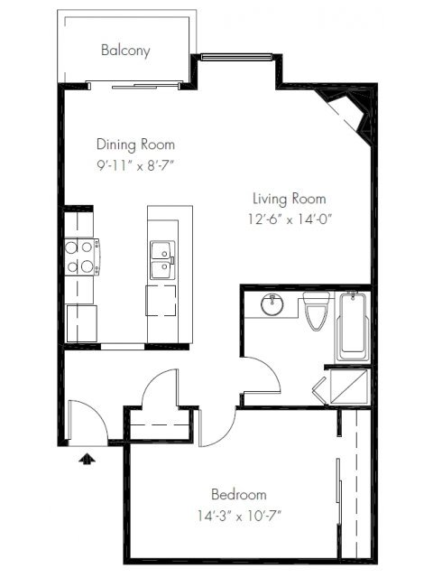 1 Bedroom 1 Bathroom Apartment for rent at Soundview Apartment Homes in Federal Way, WA