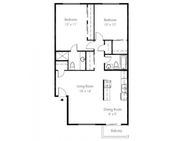 2 Bedrooms 2 Bathrooms Apartment for rent at Whispering Cedars Apartment Homes in Lynnwood, WA