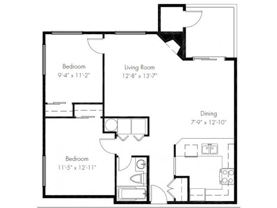 2 Bedrooms 1 Bathroom Apartment for rent at Windsong Apartments in Issaquah, WA