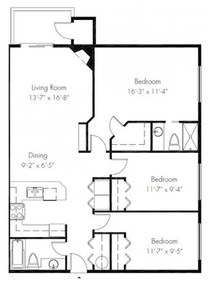 3 Bedrooms 2 Bathrooms Apartment for rent at Windsong Apartments in Issaquah, WA