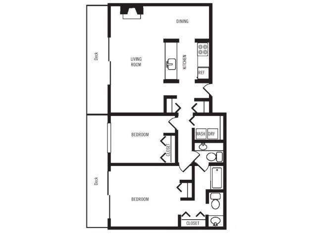 2 Bedrooms 1 Bathroom Apartment for rent at Majestic Bay Townhomes in Des Moines, WA